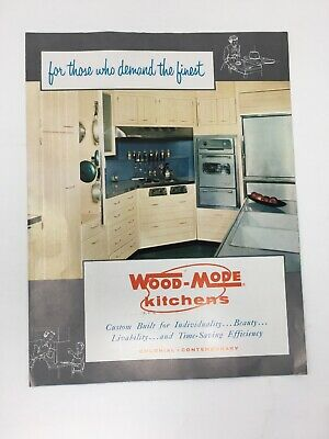 1959 Wood Mode Kitchens Brochure Mid Mod Graphics Colonial Contemporary