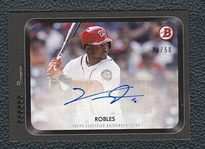 2019 Topps On Demand '55 Bowman VICTOR ROBLES Nationals Autograph /50