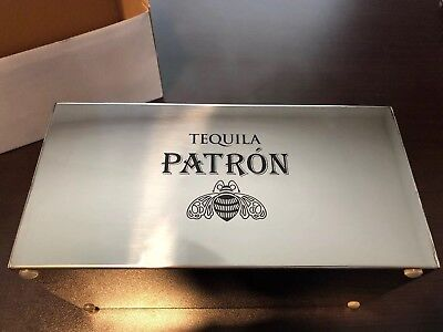 Patron Tequila Stainl Napkin and Straw Bar Caddy  Collectible Bar Ware Brand New