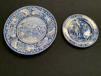 Historical Antique Plates: 10 inch Royal Fenton with coordinating 7 inch plate