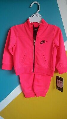 Girls Nike Tracksuit Set Size 12 Month (75-80cm) Pink /black