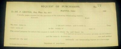 Prohibition Prescription unused Request #71 Purchasers Mapletown, Iowa get drunk