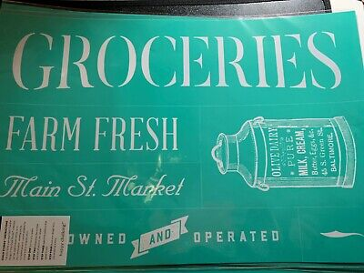 Chalk Couture Transfer, Corner Market Collection: Grocery