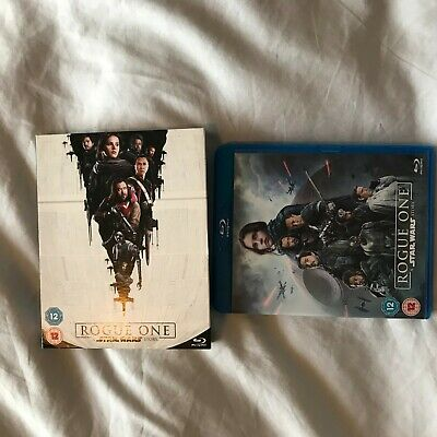 Rogue One: A Star Wars Story (Blu-ray, 2017) With Slip Cover