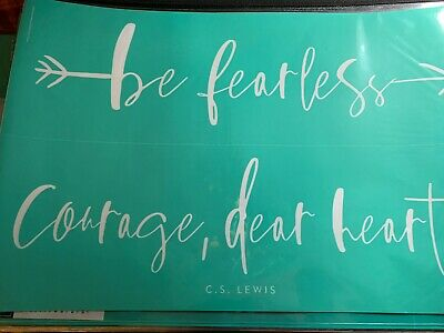 Chalk Couture Transfer, Be Fearless