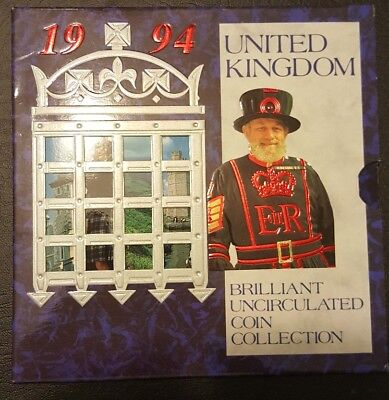 1994 United Kingdom Brilliant Uncirculated Coins Royal Mint Collection.
