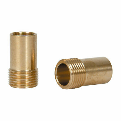 """Brass Compression Adapting Flexible Tap Connectors 15Mm X 3/8"""" 2 Pack"""
