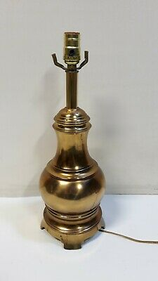 """Brass Table Lamp 19"""" Tall Heavy Vintage"""