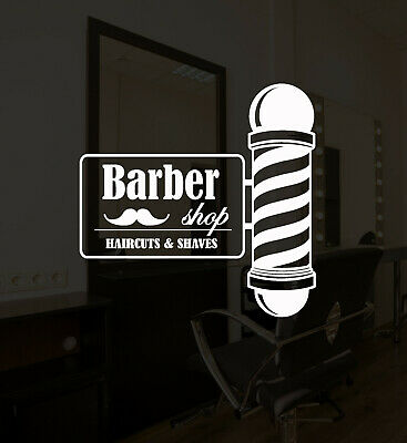 Vinyl Wall Decal Barber Shop Barber Hair Salon Haircut Shaves Stickers (ig5235)