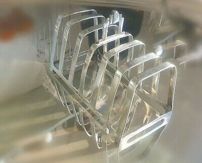 Antique Solid Silver Art Deco Toast Rack Hallmarked 6 slices Sections