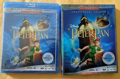 Peter Pan [BLURAY+DVD DISCS ONLY!!!] [NO DIGITAL] W/SLIPCOVER!!!