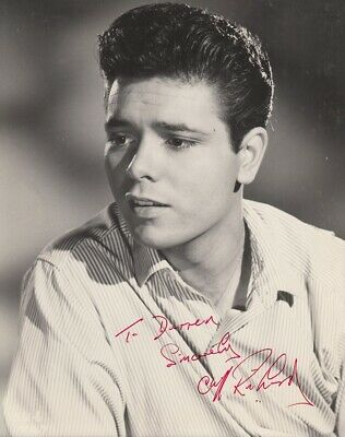 "CLIFF RICHARD - 10"" x 8"" b/w Photograph 1950s - PERSONALLY SIGNED TO DARREN F#8"