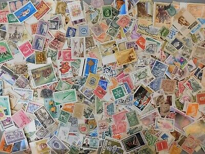 1oz+ (300-400 STAMPS) WW MIX, MINT, USED FROM 40 YEAR ACCUMULATION, FREE SHIP.