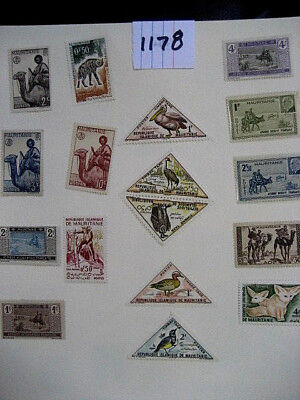 Mauritanie mint NH stamps.  Lot # 1178.  Unchecked for value