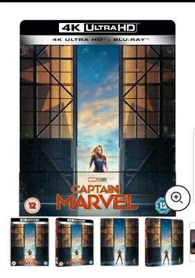 Captain Marvel 4K + 2D Limited Edition Blu Ray Steelbook New PRE ORDER!!