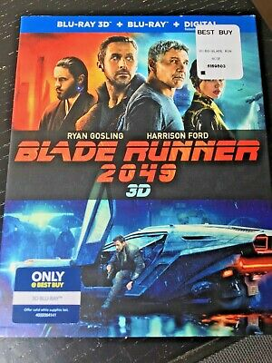 Blade Runner 2049 3D Blu-ray+3D+Digital Copy+Slip Cover  Best Buy Exclusive NEW