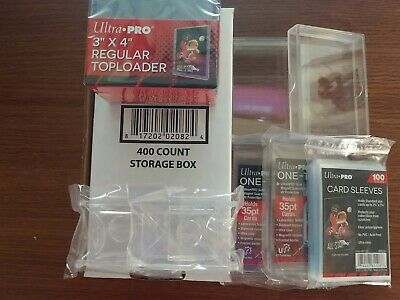 Ultra PRO Supply Lot Top Loaders Penny Sleeves One Touch Card Stands Hard Case