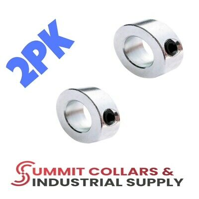 "1-3/8"" bore  set shaft collar, zinc plated. (Qty 2) Free shipping!"
