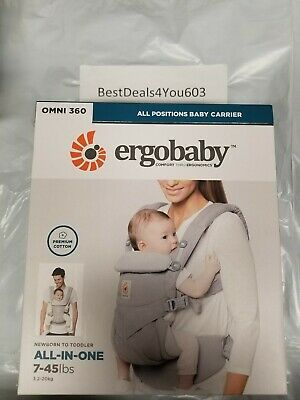 Ergobaby Ergo Baby Omni 360 All-In-One Newborn to Toddler Carrier Gray Grey