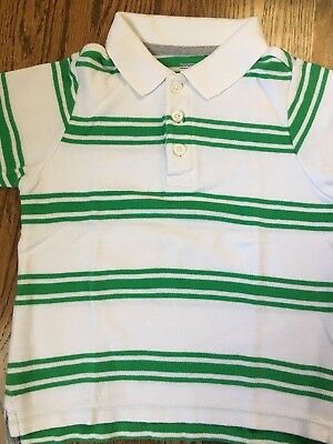 Old Navy Toddler Boy Size 3T White Green Collared Polo