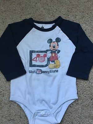 Boys 12 Months Long Sleeve Shirt Walt Disney World 40 Years Mickey