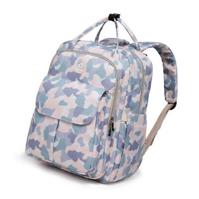 Waterproof Mommy Baby Diaper Bag Large Capacity Backpack Bottle Nappy Tote Bag