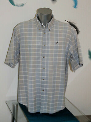 Shirt Blue short Sleeves Marlboro Classics Size XXXL Mint