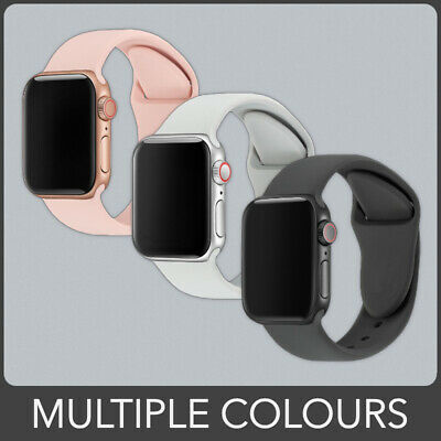 Replacement Silicone Sport Band Strap for Apple Watch Series 4 3 2 1. 11 Colours