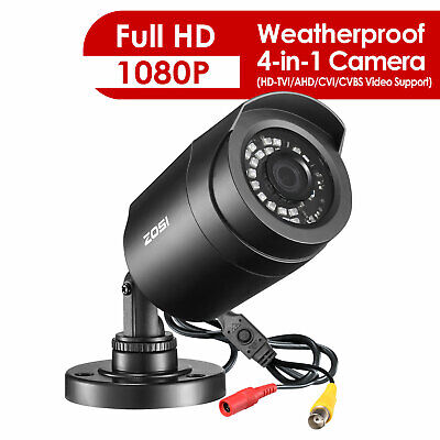 ZOSI HD 1080P 4in1 Security Camera Home CCTV Bullet Outdoor 2.0MP Night Vision