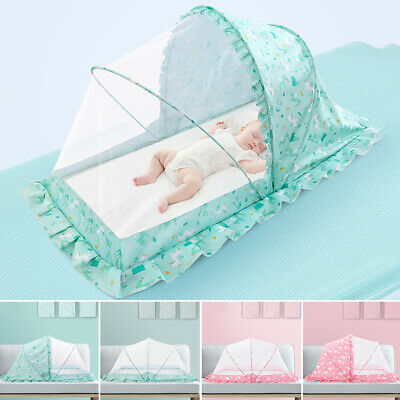 Protection Durable Insect Repellent Free Installation Foldable Baby Crib Netting