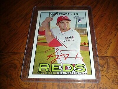 Topps Heritage 2016 Certified Auto Autograph Jose Peraza Red Ink 21/67 Real One
