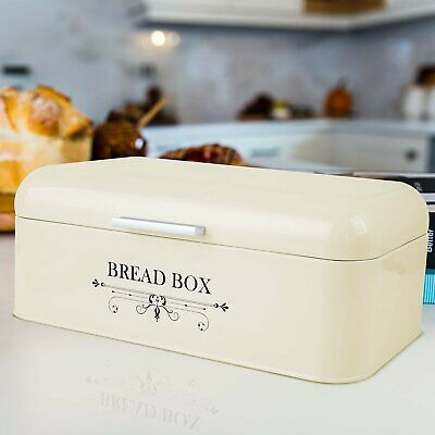 Large Bread Box Loaf Storage Metal Kitchen Food Container Bin Food Storage 11 L