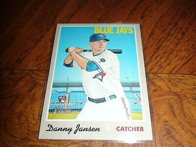Topps Heritage 2019 #392 Danny Jansen Sp Action Blue Jays Just Pulled Rookie Rc