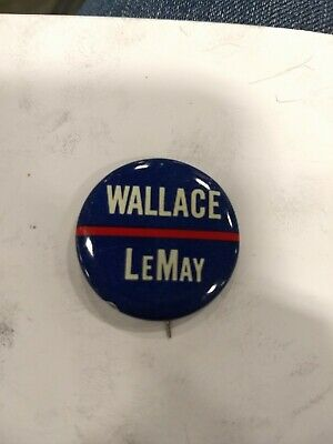 "Vintage Wallace LeMay Presidential Campaign 1"" Button"