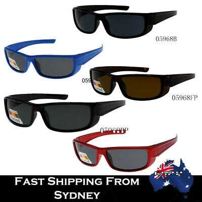 Kid Boys Cool Colorful Sunglasses Sporty Wrap Polarized Available + Fee Pouches