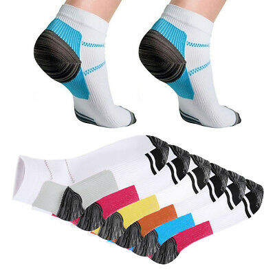 12pcs Compression Socks Plantar Fasciitis Arch Ankle Running Support Mens Womens