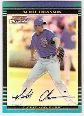 Scott Chiasson Refractor Rookie Serial #/500 2002 Bowman Chrome 130 Chicago Cubs