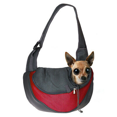 Portable Pet Dog Cat Puppy Carrier Comfort Travel Tote Shoulder Bag Red S Size