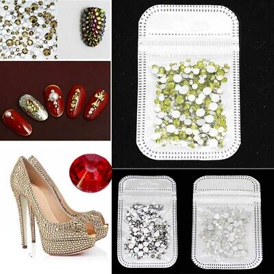 400X Nail Art Rhinestones Crystal Gems 3D DIY Tips For Phone Clothes Accessories