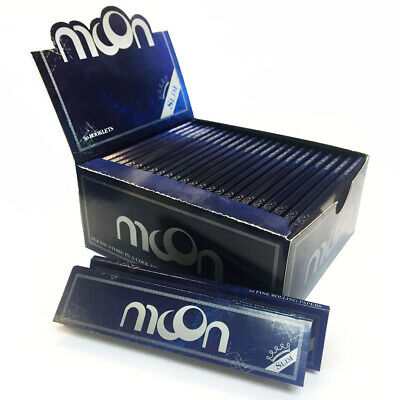 1 box New Moon Blue Rice Tobacco Rolling Papers King Size 108*45mm 1920 leaves