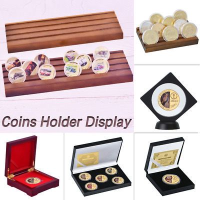 Collectible Coin Holder Display Challenge medal Coin Case Collector Gift for Men