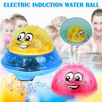 Electric Induction Spray Ball Light Bathroom Infant Kids Water Bath Playing Toys