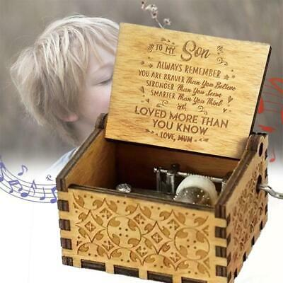 To son/wife - Love You More Than You Know Engraved Wooden Music Box Original