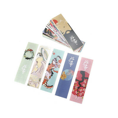 30pcs Cute Paper Bookmark Vintage Japanese Style Book Marks Reading Supplies