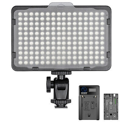 Neewer Dimmable 176 LED 5600K Video Light Panel with Battery and Charger