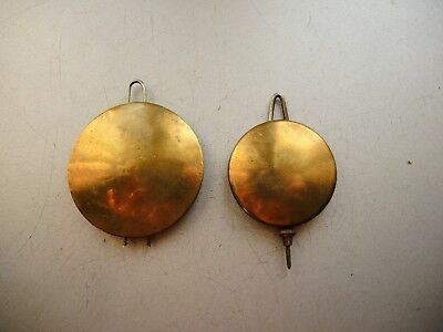 2 x Antique American Kitchen wall clock WATERBURY / ANSONIA BRASS Metal Pendulum