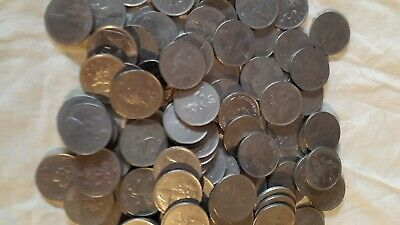 97 bulk circulated old large 10p uncleand coins 1960s&70s
