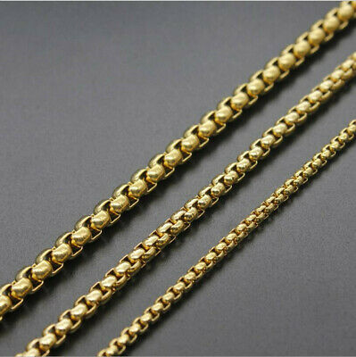 Wholesale 10pcs Stainless Steel Gold Square Pearl Chain Necklace 3mm*55cm/22''