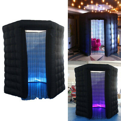 Inflatable LED Light Photo Booth Tent Party Birthday Wedding 2.5M with RC&Blower