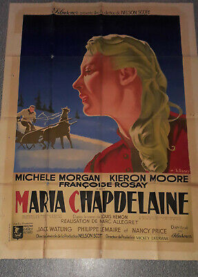 affiche ancienne Maria Chapdelaine Morgan 1950 Lancy french poster
